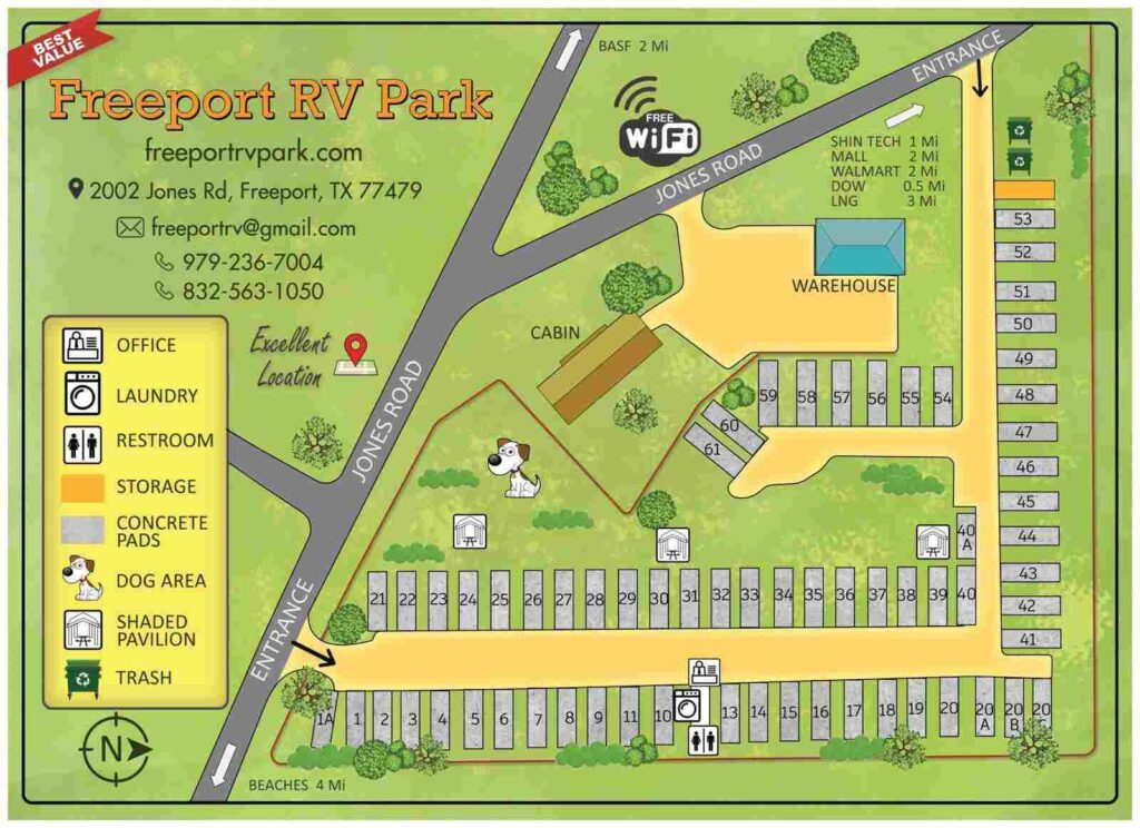 RV park in Oyster Creek TX